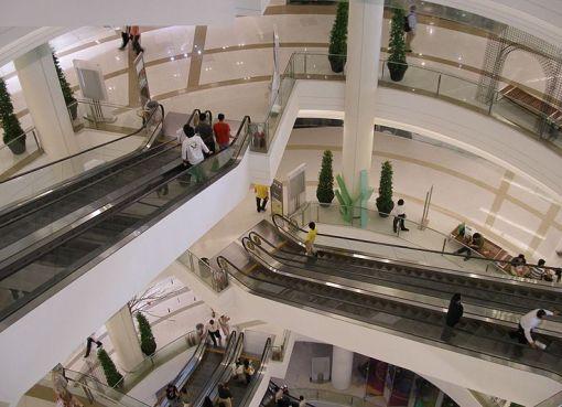 Stairs at Siam Paragon shopping mall in Bangkok