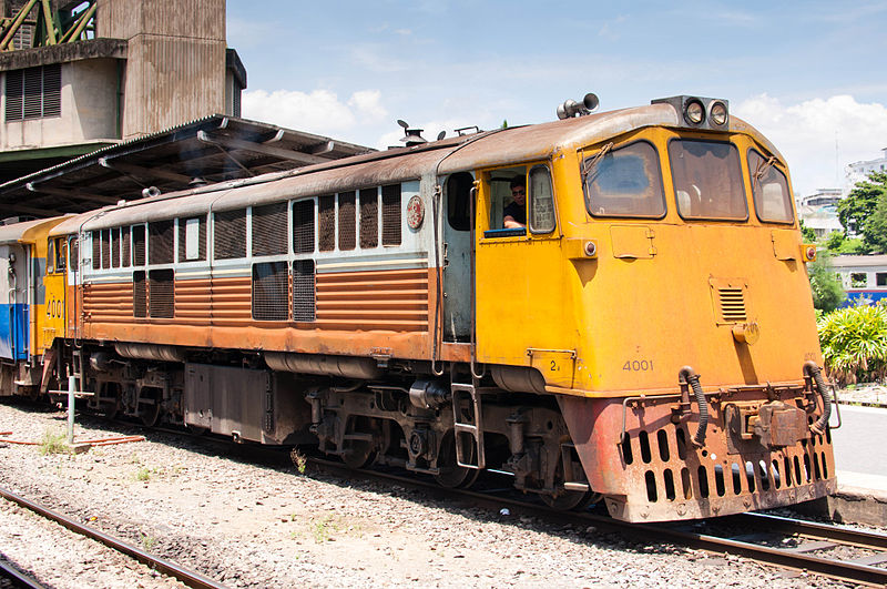 State Railways of Thailand locomotive 4001 at Hua Lamphong station