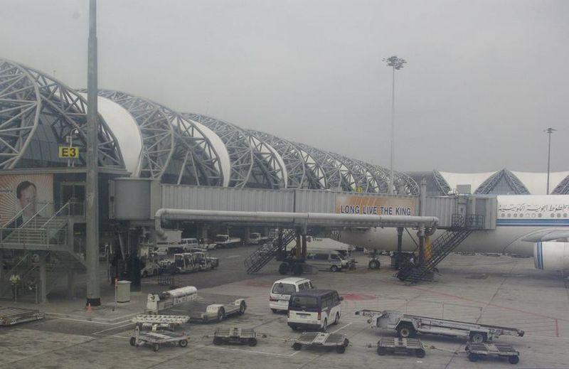 View of Suvarnabhumi Airport in Bangkok