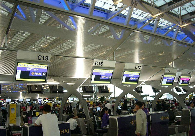 Thai Airways check-in counters at Suvarnabhumi International Airport