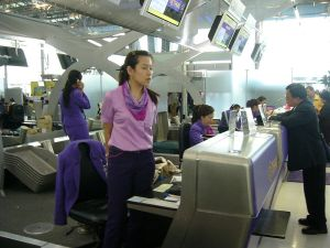 Thai Airways check-in counters at Suvarnabhumi International Airport, Bangkok