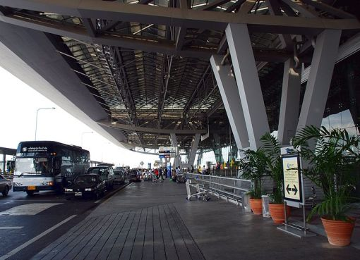 Traffic at Suvarnabhumi Airport