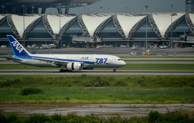 ANA aircraft at Bangkok Suvarnabhumi Airport