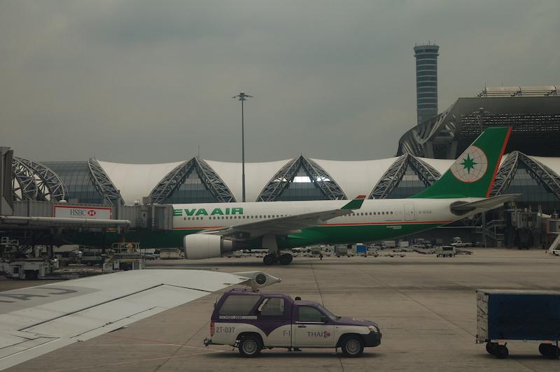 EVA Air Airbus A330 at Suvarnabhumi Airport