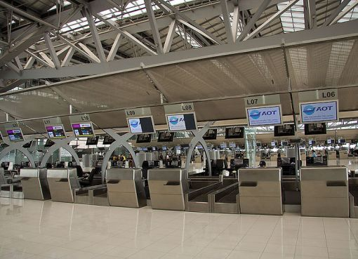 Check-in at Suvarnabhumi Airport in Bangkok