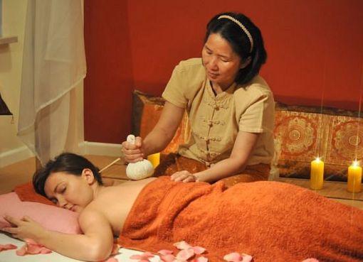 Herb balls massage in Thailand