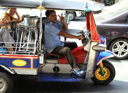 A Tuk-tuk or 'sam lor'