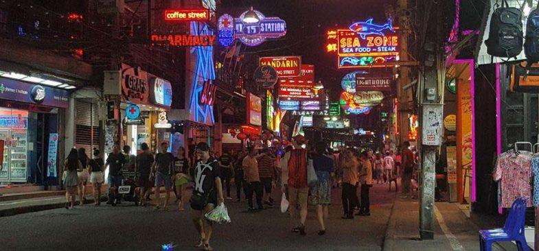 Pattaya Walking Street is popular among bachelors visiting thailand
