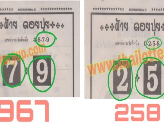 Thai Lottery Digit Touch Paper 16-07-20