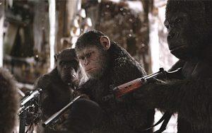 映画『猿の惑星:聖戦記』の一場面