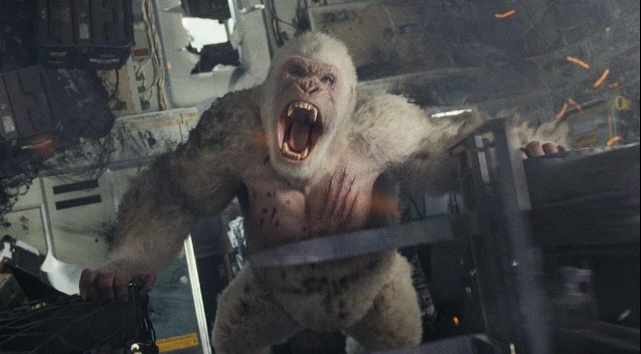 映画『ランペイジ 巨獣大乱闘』の一場面