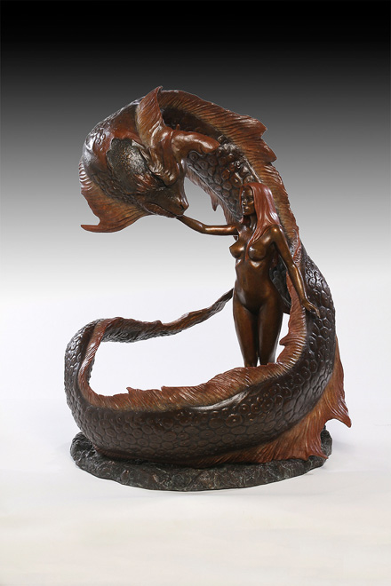 Lady of Naga (รูปหล่อสำริด) ปั้นจาก ZBrush และผลิตเป็นชิ้นงานจริง