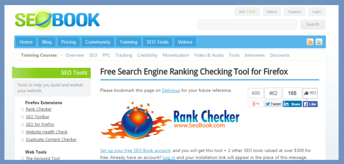 SEOBook Rank Checker - Keyword Rank Checker Tool | Thakur Blogger
