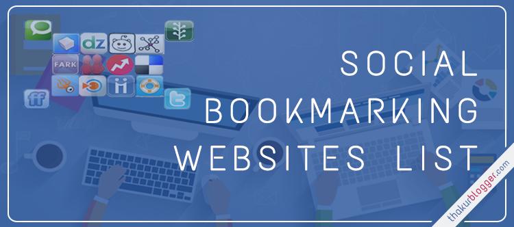 150+ New Social Bookmarking Sites List 2017 - Bookmark Your Website