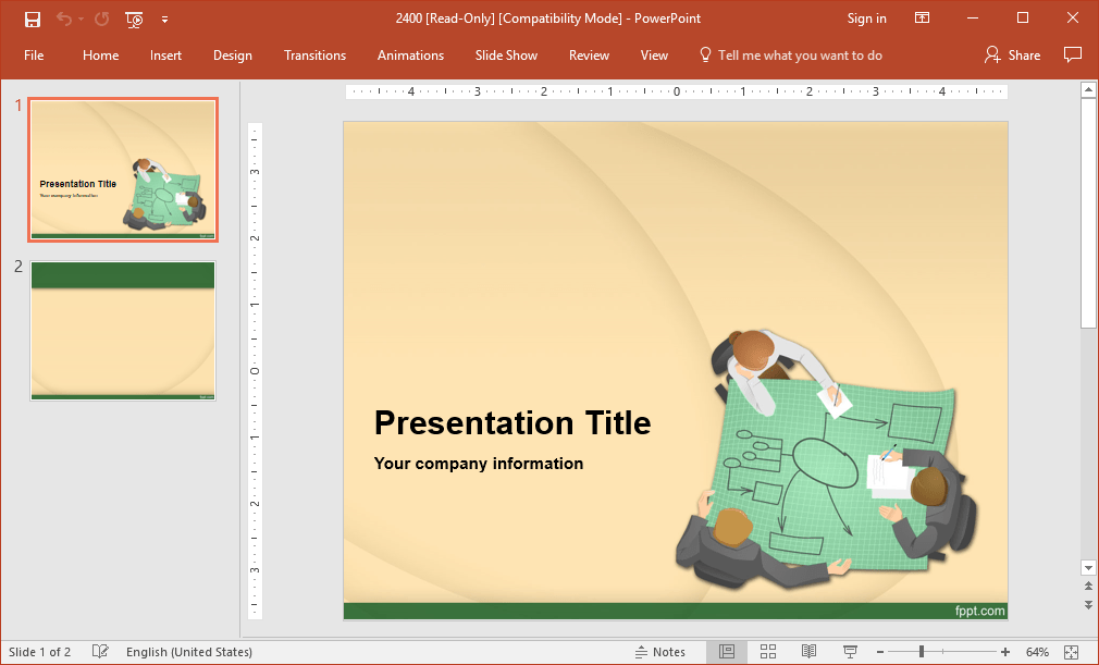 Engineering themed powerpoint presentation