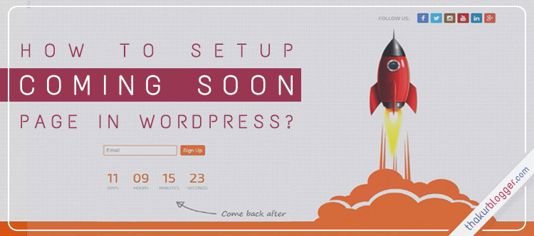 Wordpress Coming Soon Plugin – Add Under Construction Landing Page