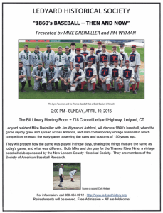 Baseball talk for LHS flyer