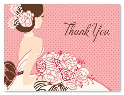 What to write in a thank you card for bridal shower What do you give at a bridal shower