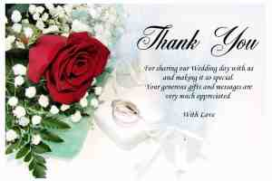 Wedding thank you gifts and messages thank you wedding cards 3 altavistaventures Gallery