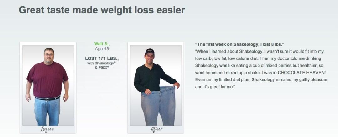 Weight Loss Success Shakeology