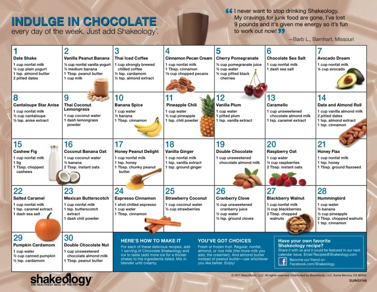 ChocolateShakeology