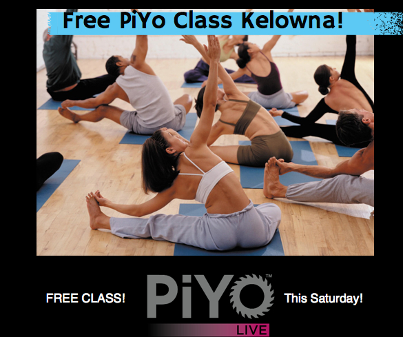 Free PIYO Class, This Saturday in Kelowna!