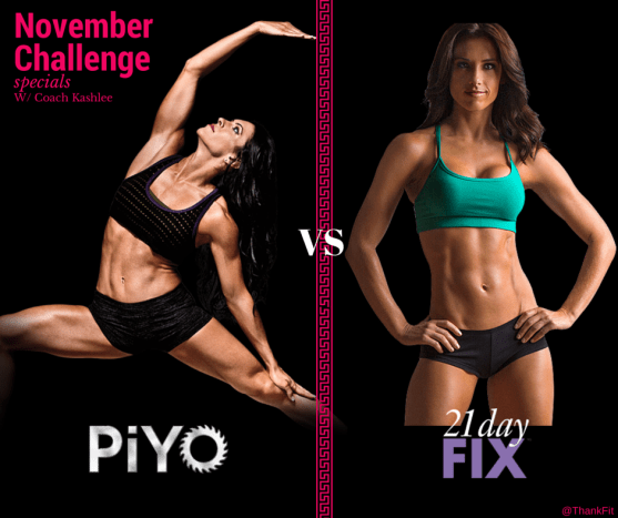 PiYo vs 21 Day Fix