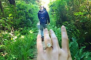 Engaged solitaire ring Kashlee trevor