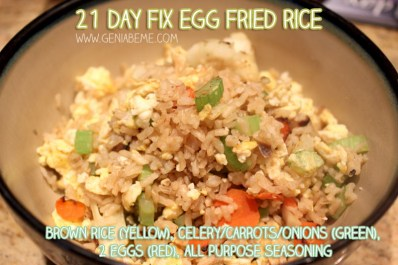 21 Day Fix Fried Rice Recipe