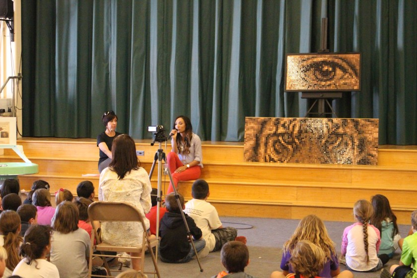 Speaking to Benchley Weinberger Elimentary School students