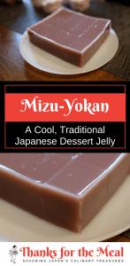 Japanese Traditional Dessert Jelly mizu-yokan