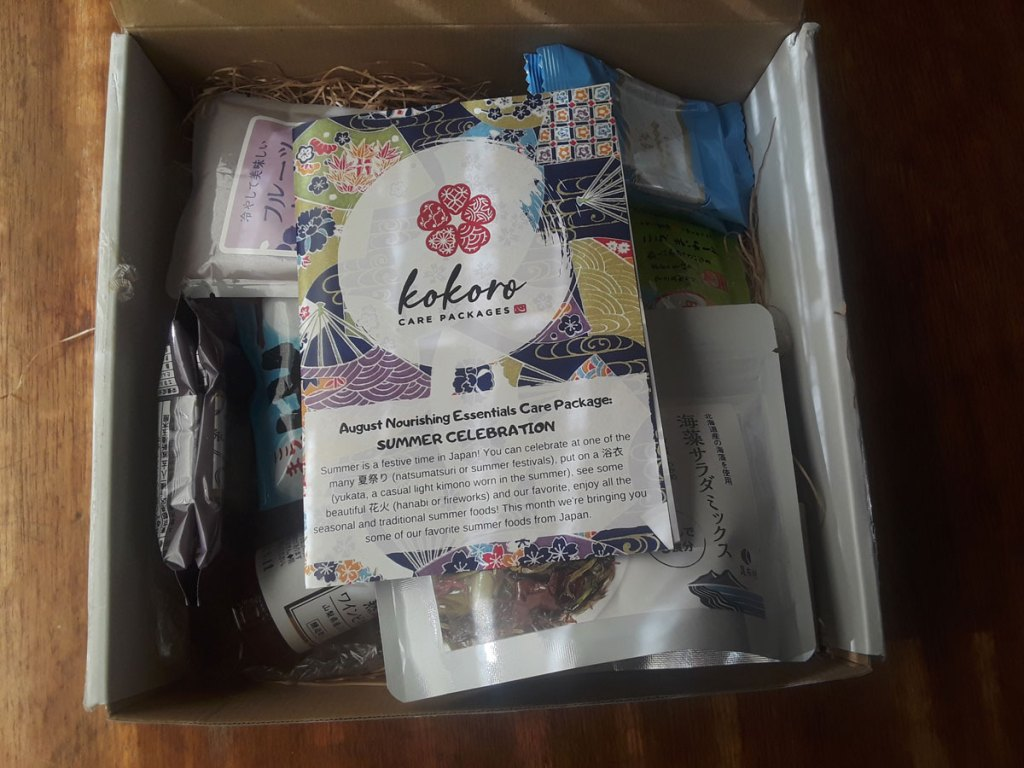 Kokoro August 2019 Care Package