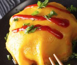 Omurice recipe (Japanese rice omelette)