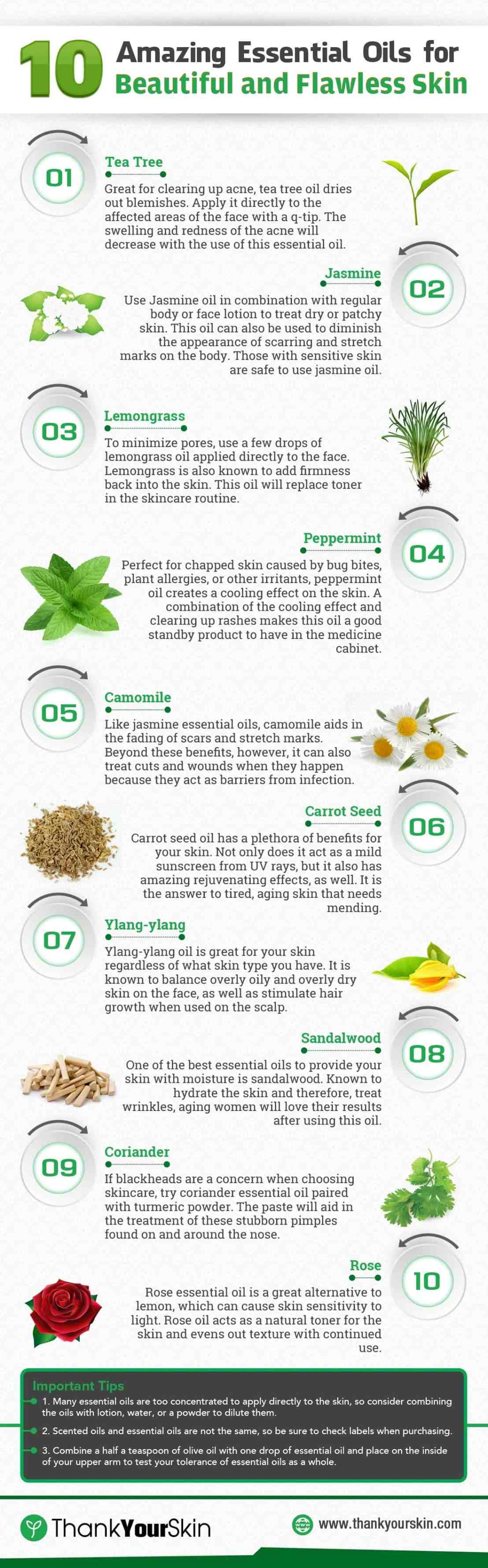10 Best Essential Oils for Beautiful and Flawless Skin