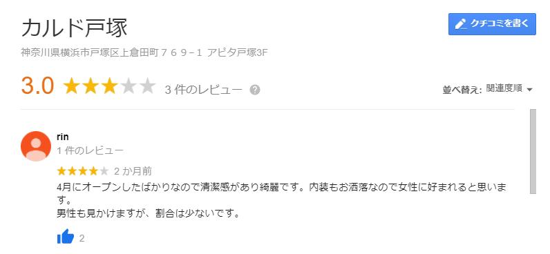 カルド戸塚口コミ