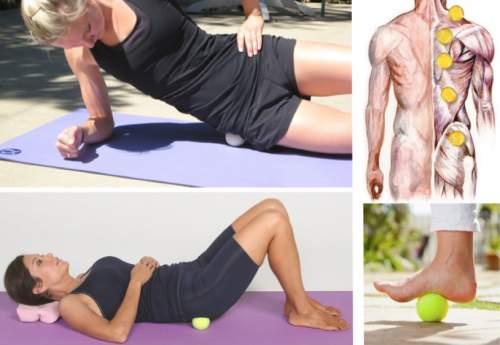 إستخدام كرة التنس في تخفيف ألم العضلات 2