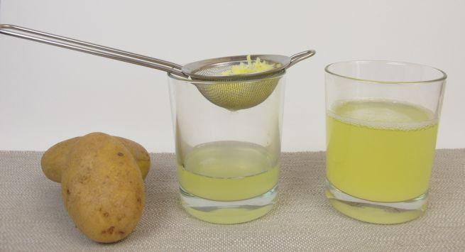 عصير البطاطس للشعر