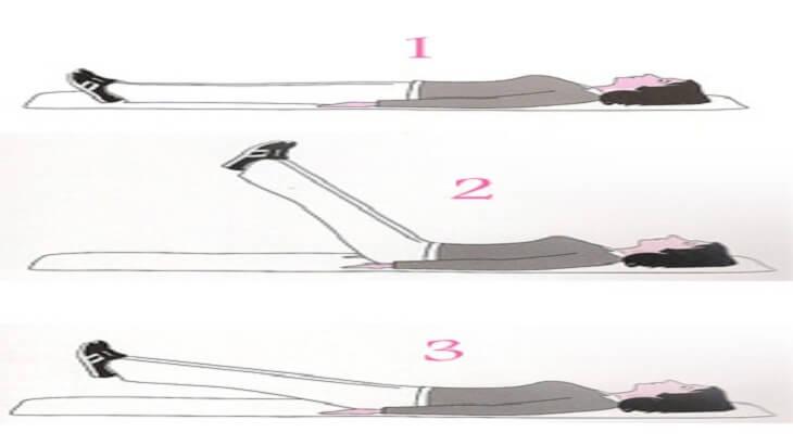 تمرين رفع الساقين لأعلى لتطويل القامة