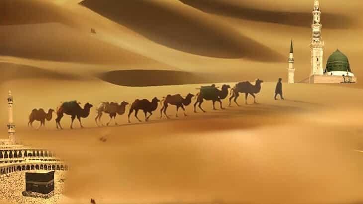 موضوع تعبير عن الهجرة النبوية الشريفة بالعناصر