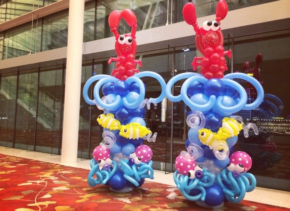 Balloon sea creatures columns