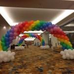 Balloon Rainbow Cloud Arch