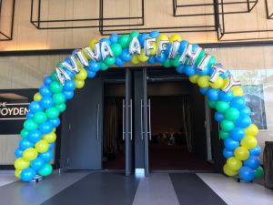 Customised Spiral Balloon Arch