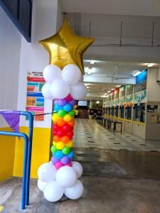 Rainbow Star Balloon Column