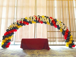 Balloon Arch for Boss Birthday Party