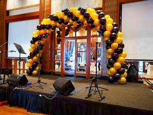 Black and Gold Balloon Arch