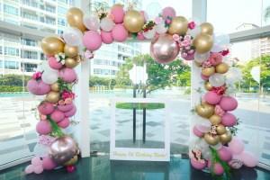Organic Balloon Garland Arch