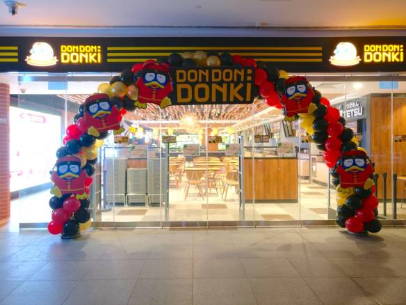 Balloon Arch for Don Don Donki