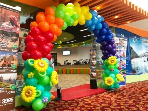 Rainbow and Sunflower Balloon Arch Singapore