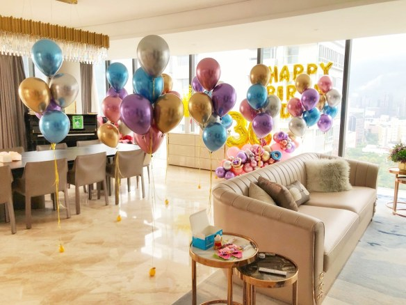 Balloon Room Styling Birthday Party