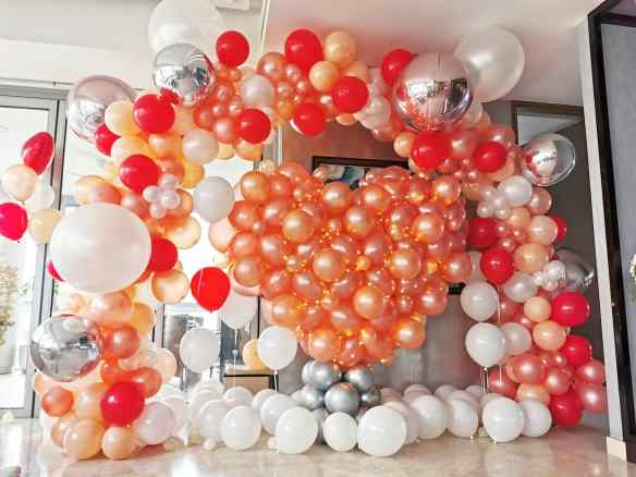 Organic Balloon Backdrop Decorations Singapore